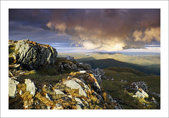 CAST A GIANT SHADOW (SwaloPhoto) Tags: sunset sky mountains clouds scotland highlands rocks shadows perthshire scottish fujifilm nationaltrust backlighting munros lochtay nts benlawers beinnghlas xt1 leefilters 06gndh fujinonxf18135mm f3556rlmoiswr