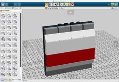 Basic Wall Panel (Paul B. Hartzog) Tags: lego modular cube ideas diorama moc tablescraps wallpanel legodigitaldesigner