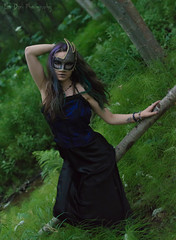 Princess of the Forest (Keltron - Thanks for 8 Million Views!) Tags: fern forest woods modeling mysterious corset brunette browneyes select beautifulgirl antonie mardigrasmask girlinthewoods alaskangirls anchoragegirls