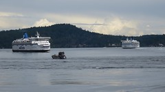 Ferries Spirit of British Columbia and Spirit of Vancouver Island meet in Active Pass (D70) Tags: canada vancouver island bc spirit galiano pass columbia british ferries meet active