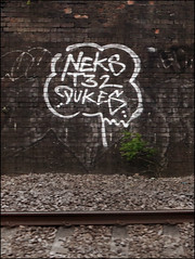 Neks T32 Dukes (Alex Ellison) Tags: urban graffiti boobs railway graff 32 dukes trackside northlondon neka pws opd t32 1t nekah neks temp32