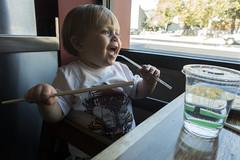Straw and chopstick (quinn.anya) Tags: water restaurant berkeley toddler sam straw chopstick chineserestaurant greatchina
