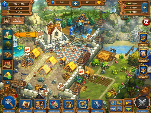 The Tribez & Castlez - Play with friends! Gameplay, Heads-Up Display: screenshots, UI