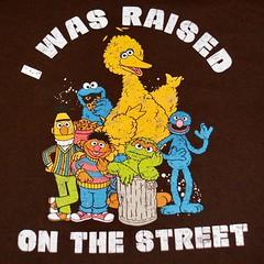 Sesame Street raised on the street Graphic Tee Shirt (itstayedinvegas-4) Tags: graphicteeshirt sesamestreet bigbird cookiemonster bertandernie grover oscarthegrouch