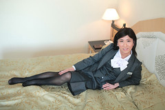 Office uniform 1511_4_04 (akichan980) Tags: crossdressing crossdresser 女装 officelady businesswoman ol ol 事務員 uniform 制服 事務服 japanese suit