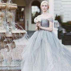 اختاري فستان العروس باللون الرمادي لتتألقي بجاذبية يوم زفافك (Arab.Lady) Tags: اختاري فستان العروس باللون الرمادي لتتألقي بجاذبية يوم زفافك