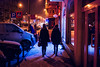 radiant (ewitsoe) Tags: poznan poalnd ewitsoe nikond80 35mm street city urban women snow snowing light neon night jezyce polska