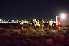 Head-on Collision Kills one person on Highway 395 (gabrieldespinoza) Tags: car accident victorville hesperia pedestrian news vvng victorvalleynews
