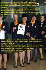 Caption_1 (Marie-Christine.TV) Tags: feminine lady flightattendant mariechristine stewardess skirtsuit kostüm pumps