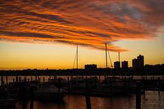 Cloud cover (kzoop) Tags: sunset clouds sky nyc newyork newyorkcity boats river hudson hudsonriver marina manhattan