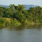River Kwae Yai in the morning sun seen from my hotel room at Felix River Kwai Resort in Kanchanaburi, Thailand thumbnail