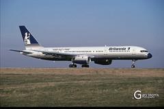 G-BYAH Boeing 757 204 (Gary J Morris) Tags: eggd brs by bal bristol airport lulsgate garymorris airlines boeing 757 gbyah 204 britannia airways 22021998 26966 airline