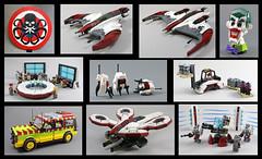 2016 LEGO MOCs (MaverickDengo) Tags: 2016 newyear space lego moc scifi popculture movies portal captain america joker dc marvel jurassic park