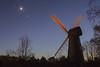 The Moon, Venus and the Mill. (Owen Llewellyn) Tags: london lambeth brixton ashbymill ashbysmill windmill canon eos1dx 1dx heritage urban southlondon moon luna lunar crescent venus colour sky astro conjunction