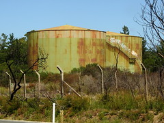Decommissioned oil tanks (Lesley A Butler) Tags: victoria tanks refinery cribpoint bp australia