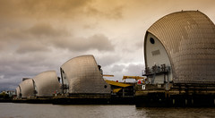 Lucky 7 (Ian Hayhurst) Tags: river thames barrier water 7 seven evening machinery rib london flood defence