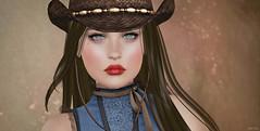 Your Mouth is Poison & Wine (Lori Novo) Tags: lorinovo secondlife virtualworld avatar zibska makeoverroom glamaffair stormcrowdesigns argrace deathrowdesigns hoorenbeek cowgirl hat