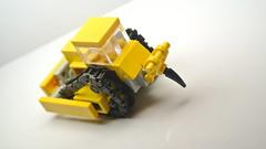 Small Lego Bulldozer (MOC) (hajdekr) Tags: dozer bulldozer vehicle crawler small simple inspiration lego buildingblocks building continuoustrackedtractor cat caterpillar blade ripper loader toy