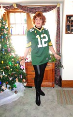 Will I Blend? (Laurette Victoria) Tags: boots leggings packers auburn jersey laurette woman milwaukee