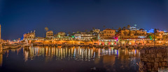 Byblos Bay, Lebanon (Paul Saad) Tags: pano panorama panoramic byblos jbeil night longexposure lebanon port water sea beach sky lights colors reflection