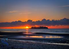 Sun rising beside Charles Island (Singing With Light) Tags: 16th 2016 alpha6000 autumn charlesisland october singingwithlight fall photography singingwithlightphotography sony sunrise walnutbeach