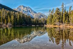 Reflection on String Lake in the Grand Tetons (Alaskan Dude) Tags: travel usa wyoming grandtetonnationalpark grandteton nationalparks mountains landscape scenery schwabacherlanding