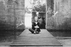 Light Steps (frank_w_aus_l) Tags: light lapadu steps anna people woman portrait monochrome nikkor nikon d800 bw sw noiretblanc industry architecture duisburg nordrheinwestfalen deutschland de