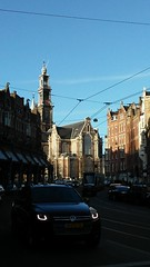 street scene with Westerkerk (western church) in the background (orbit62) Tags: amsterdam westerkerk church