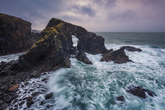 Stac a' Phris, Natural Sea Arch, Dail Beag, Isle of Lewis, Scotland (MelvinNicholsonPhotography) Tags: stacaphrish seaarch isleoflewis scotland outerhebrides dailberg outdoors landscape seascape cliffs arch ocean waves sea water green gitzo manfrotto leefilters melvinnicholsonphotography