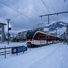 Trains in Stans: Driver car in snow (2/2) (jaeschol) Tags: europa jahreszeit kantonnidwalden kontinent schnee schweiz stans suisse switzerland transport transportunternehmen wetter winter zentralbahn zb