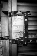 Murder (Olivier DESMET) Tags: corbeilessonnes meurtre noirblanc scellée street monochrome muder bw blackandwhite nb streetphoto photosderue ricohgr gr 28mm olivierdesmet murder