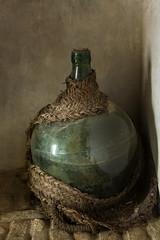 Green Jug (suzanne~) Tags: bottle jug corner indoor texture painterly glass stilllife bodegón jérez elalcázar andalusia spain