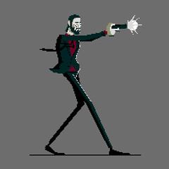 Pixel John Wick (ChrisKoelsch) Tags: johnwick wick john keanu reeves gun pistol 9mm muzzle flash illustrator illustration vector pixel sprite videogame game movie film shoot shot suit 8bit 16bit tie character design