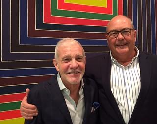 Collector Rafael Miyar with Luis Lamar at the Lowe Museum opening