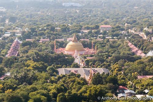 View from Soon Oo Pon Nya Shin Pagoda in Sagaing, Myanmar