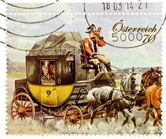 great stamp Austria € 70c historic stagecoach (painting by Karl Schnorpfeil 1875-1937; historische Postkutsche, diligence, la diligencia, diligenza, 邮政马车, почто́вая каре́та, diligência) timbre Autriche selo sello francobollo Austria postzegel Oostenrijk (stampolina, thx for sending stamps! :)) Tags: historic stagecoach karlschnorpfeil postkutsche diligence ladiligencia diligenza 邮政马车 почто́ваякаре́та diligência rakousko austria österreich austrija avusturya østerrike ausztria オーストリア stamps stamp 切手 briefmarke briefmarken スタンプ postzegel zegel zegels марки टिकटों แสตมป์ znaczki 우표 frimærker frimärken frimerker 邮票 طوابع bollo francobollo francobolli bolli postes timbres sello sellos selo selos razítka γραμματόσημα bélyegek markica antspaudai маркица pulları tem perangko