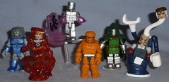 MiniMates - Fantastic Four (Darth Ray) Tags: art silver four fantastic mr puppet dr thing surfer stretch master flame torch human doom punch transforming marvel asylum figures herald on minimates blastaar nonmovie