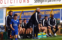 Leicester bench (lcfcian1) Tags: city uk mill field sport season one town football call stadium leicester pre friendly mansfield leicestercity lcfc mansfieldtown mtfc fieldmill onecallstadium preseasonfriendly25715 mansfieldtown11leicestercity benchilwell