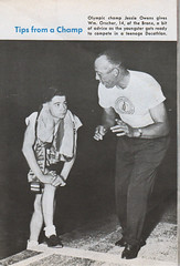 Jesse Owens and William Orscher - Say Magazine - September 1, 1955 (vieilles_annonces) Tags: 1955 fifties bronx 1950s 50s blackhistory jesseowens saymagazine september11955 williamorscher teenagedecathlon
