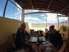 Photo de 14h - En train de blogger (Cusco, Pérou) - 23.07.2014