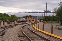 Santa Fe Depot (suenosdeuomi) Tags: newmexico santafe fences trains depot railyard niftyfifty railrunner 50mmf18g nikond5100