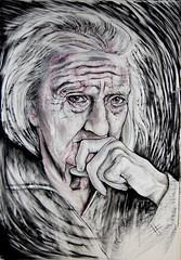 Dones.. (pepefarres ilustraciones) Tags: retrato dibujo ilustracin dibujoacarbnypastel