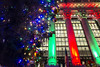 Holiday at the NYSE (wwward0) Tags: cc colorful columns fidi financialdistrict green holidaylights manhattan night nyc nyse outdoor red tree wallst windows wwward0