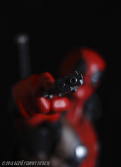 Excuse me... Could you take your f*cking camera off my face? (Rezso Kempny) Tags: kaiyodo amecomi yamaguchi amazing deadpool wade wilson chimichangas revoltech
