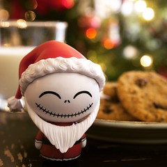 Milk and cookies for me? Merry Christmas, Happy Holidays to all. Best happy wishes :) I've also been posting a lot on Instagram @Consideringthings (SteveNakatani) Tags: nightmarebeforechristmas jackskellington merry christmas cookies funko dorbz