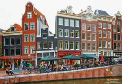 Houses on the Prinsengracht, Amsterdam Netherlands (PhotosToArtByMike) Tags: prinsengracht canal jordaan amsterdam canalhouse canalring grachtengordel netherlands dutchgoldenage dutch holland