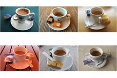 six pak (Riex) Tags: coffee cafe caffe cup tasse espresso sugar sucre biscuit break breuvage g9x collage