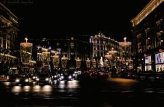 Happy New Year, my dear friends! (Lyutik966) Tags: tverskayastreet moscow capital russia city night illumination lantern highway car transport building architecture festive