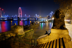 Thames Sphinx (mattrkeyworth) Tags: sphinx london thames ilce7r2 sonya7rii batis25 londoneye jubileebridge river city steps parliament