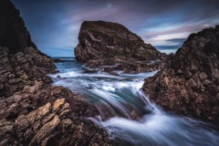 Chaos Cascading (Augmented Reality Images (Getty Contributor)) Tags: canon cliffs clouds coastline landscape leefilters longexposure morayshire portknockie rocks scotland seascape sunset water waves